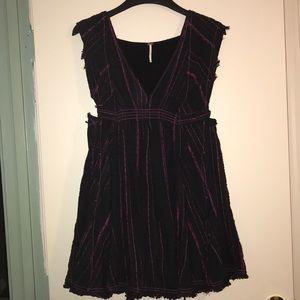 Free People Distressed Mini Dress XS